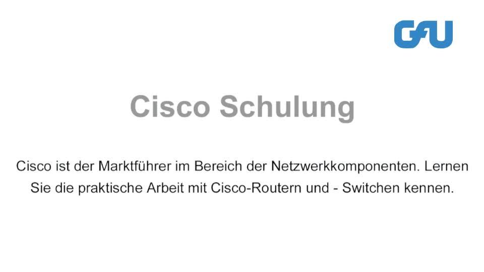 7 Cisco Schulungen und Inhouse-Seminare