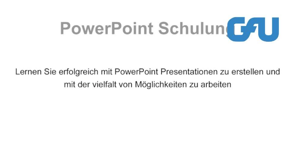 PowerPoint Schulungen und Inhouse-Seminare